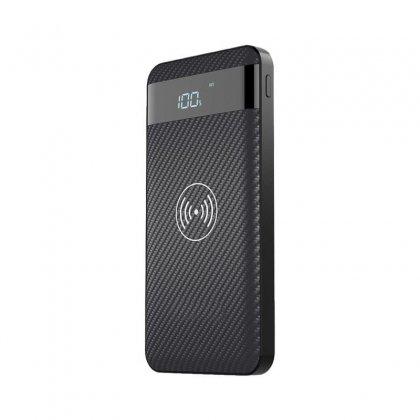 Nabo Wireless Power P55K mobiles Ladegerät mit LCD Display, 10000 mAh, Wireless Qi Charger integriert Elektro Expert